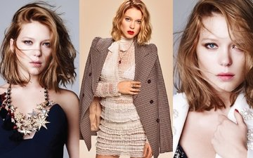 girl, look, model, hair, face, actress, lea seydoux