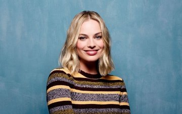 girl, blonde, smile, look, hair, face, actress, margot robbie