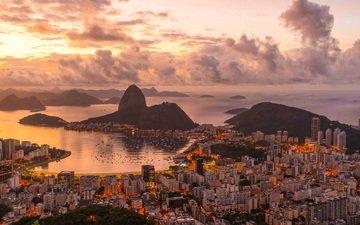 landscape, panorama, the city, brazil, rio de janeiro, de