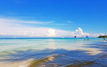 море, яхты, тропики