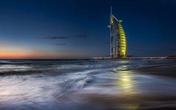 море, отель, дубай, парус, оаэ, бурдж-эль-араб