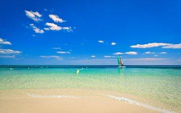 sea, beach, yacht