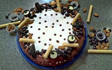 сладости, праздник, шоколад, торт, кулинария, дроже, вафельнные трубочки, печение