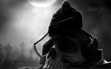 the moon, gothic, death, braid, skull, crosses, hoodie, relish