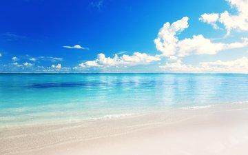sea, beach, 2