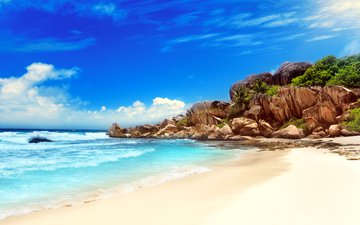 sea, beach, tropics, 5, seychelles