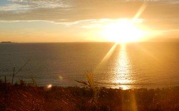 sunset, sea, 8