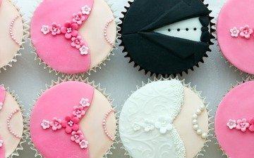 сладкое, десерт, кексы, маффины, капкейки, keksy-formy-krem