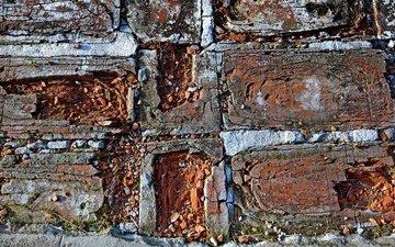 steine, textur, stil, ziegel, mauerwerk, alter