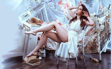 девушка, ножки, позирует