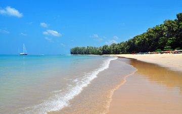 море, пляж, яхта