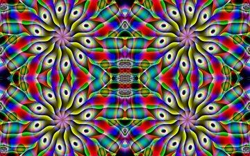 дизайн, цвет, окрас, геометрия, дезайн, симметрия, 3d графика