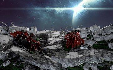 космос, развалины