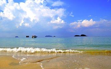 sea, beach, yachts, islands