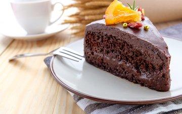 шоколад, украшение, пирожное, крем