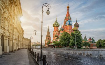moscow, the city, st. basil's cathedral, russia, igor sobolev