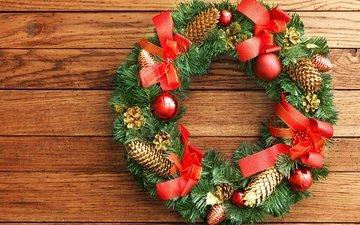 новый год, украшения, рождество, венок