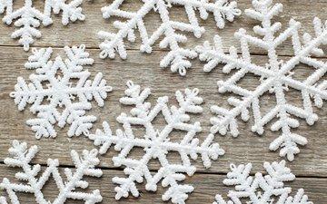 снег, зима, снежинки, деревянная поверхность, yeko photo studio