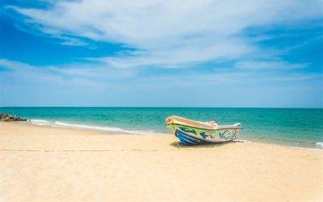 landscape, sea, beach, boat
