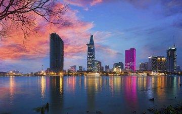 night, lights, the city, vietnam, andy le, saigon, ho chi minh city, bitexco