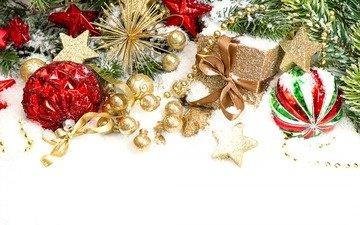 новый год, подарки, рождество, елочные игрушки
