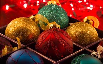 новый год, шары, рождество, елочные игрушки, lisa bettany