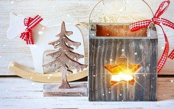 новый год, елка, украшения, фонарь, фигурки, игрушки, рождество