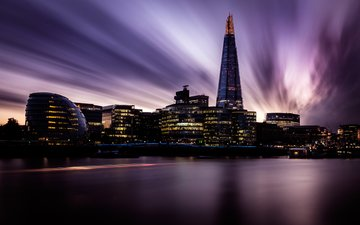 night, london, the city, england