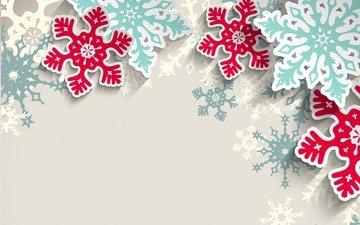 новый год, текстура, снежинки, фон, узоры