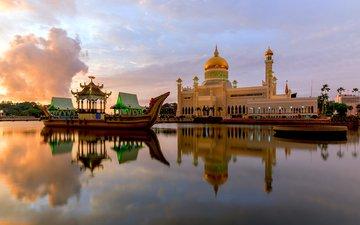 храм, мечеть, бруней, бандар-сери-бегаван, anujak jaimook
