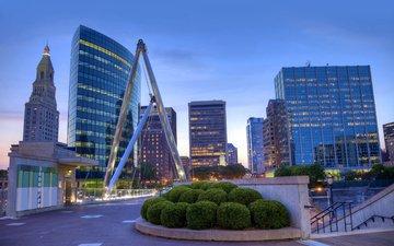 город, дома, архитектура, коннектикут, хартфорд
