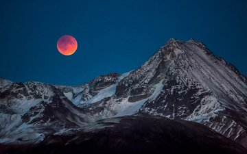 night, mountains, nature, landscape, the moon, dan carr