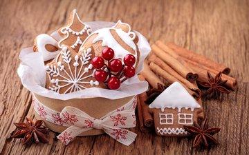 новый год, корица, рождество, печенье, выпечка, анис, бадьян