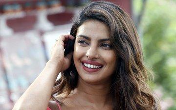 girl, smile, brunette, look, hair, face, actress, bollywood, priyanka chopra