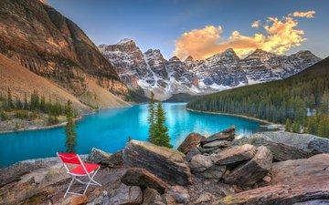 озеро, горы, природа, лес, пейзаж