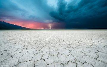 земля, пейзаж, молния, пустыня, гроза, terrance siemon