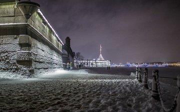 ночь, зима, фото, люди, питер