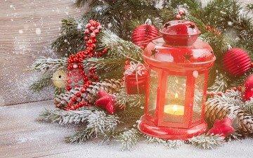 new year, tree, balls, decoration, lantern, christmas, bumps, christmas decorations