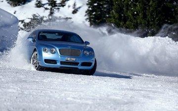 snow, winter, auto, bentley, aleksandr markovsky