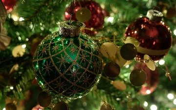 новый год, елка, шары, рождество, елочные игрушки