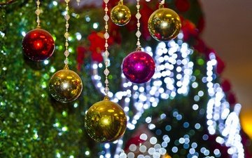 новый год, елка, шары, блеск, рождество