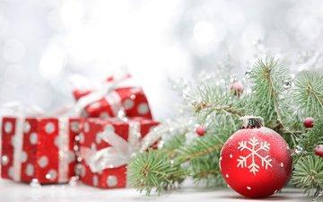 новый год, елка, подарки, шар, рождество