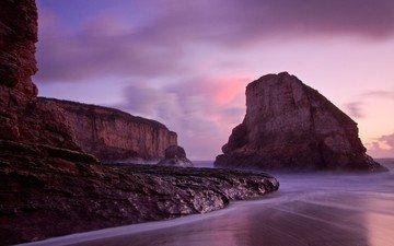 скалы, камни, берег, пейзаж, море, грот