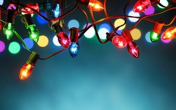 light, new year, light bulb, christmas, lights, garland