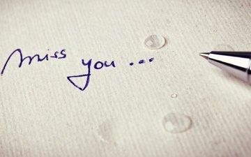ручка, капли, записка, слезы, sorkin, скучаю...miss you