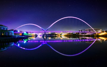 night, lights, bridge, the city, england, joe daniel price, bridge stockton-on-tees, middlesbrough