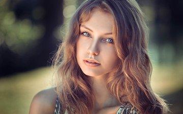 глаза, девушка, блондинка, портрет, взгляд, модель, волосы, лицо, фотосессия