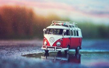 игрушка, автобус, машинка, моделька