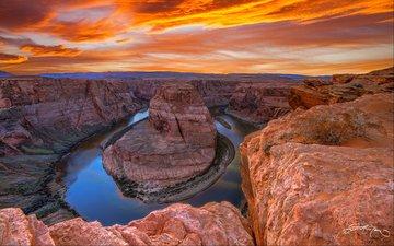 река, скалы, пейзаж, каньон