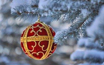 новый год, елка, шар, рождество, елочная игрушка
